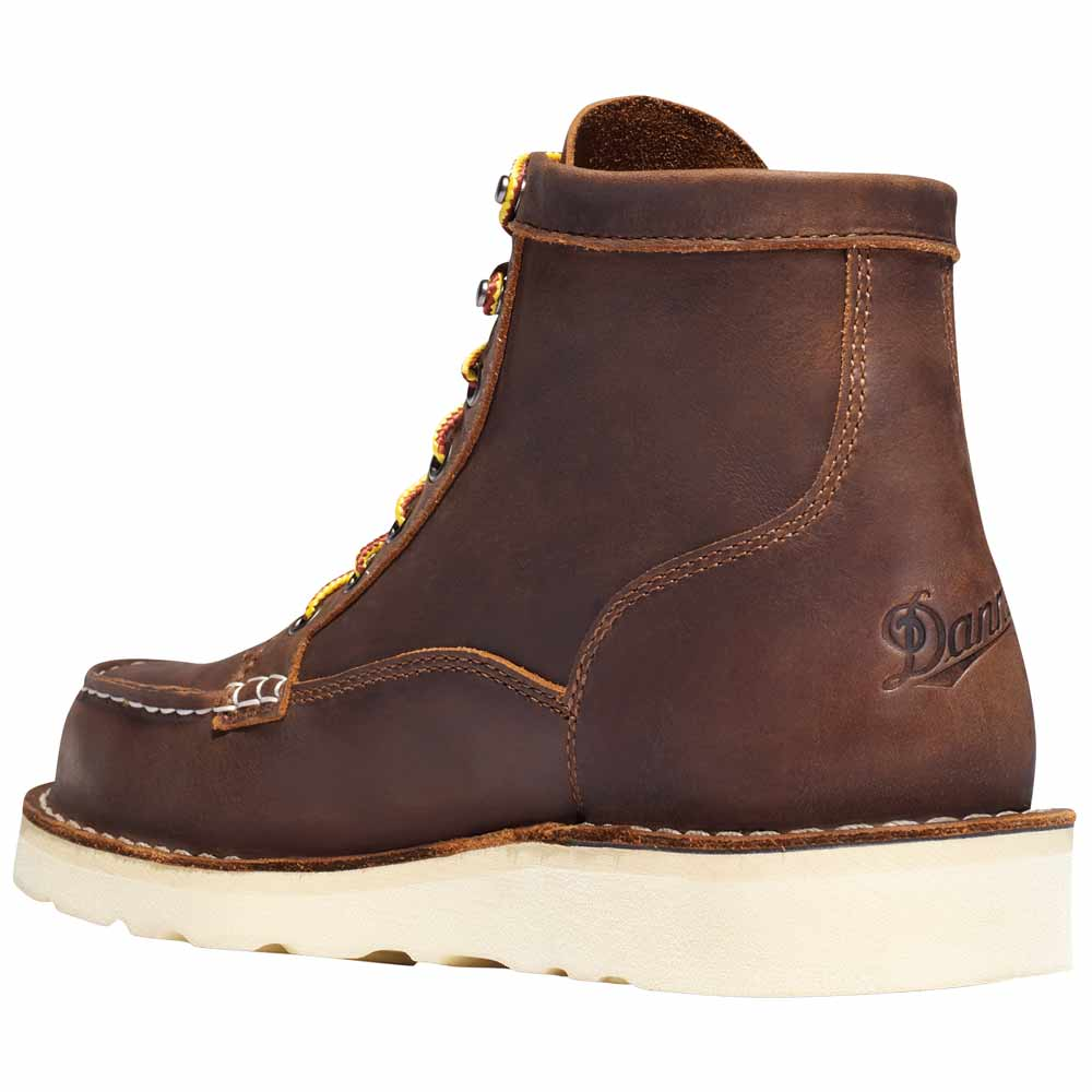 new & pre-owned designer pretty nice top-rated authentic Danner Bull Run Moc Toe 6-inch Brown Wedge Steel Toe Work Boot