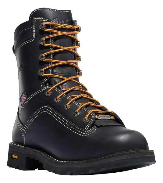 Danner Quarry 8 Inch Black Waterproof Work Boot