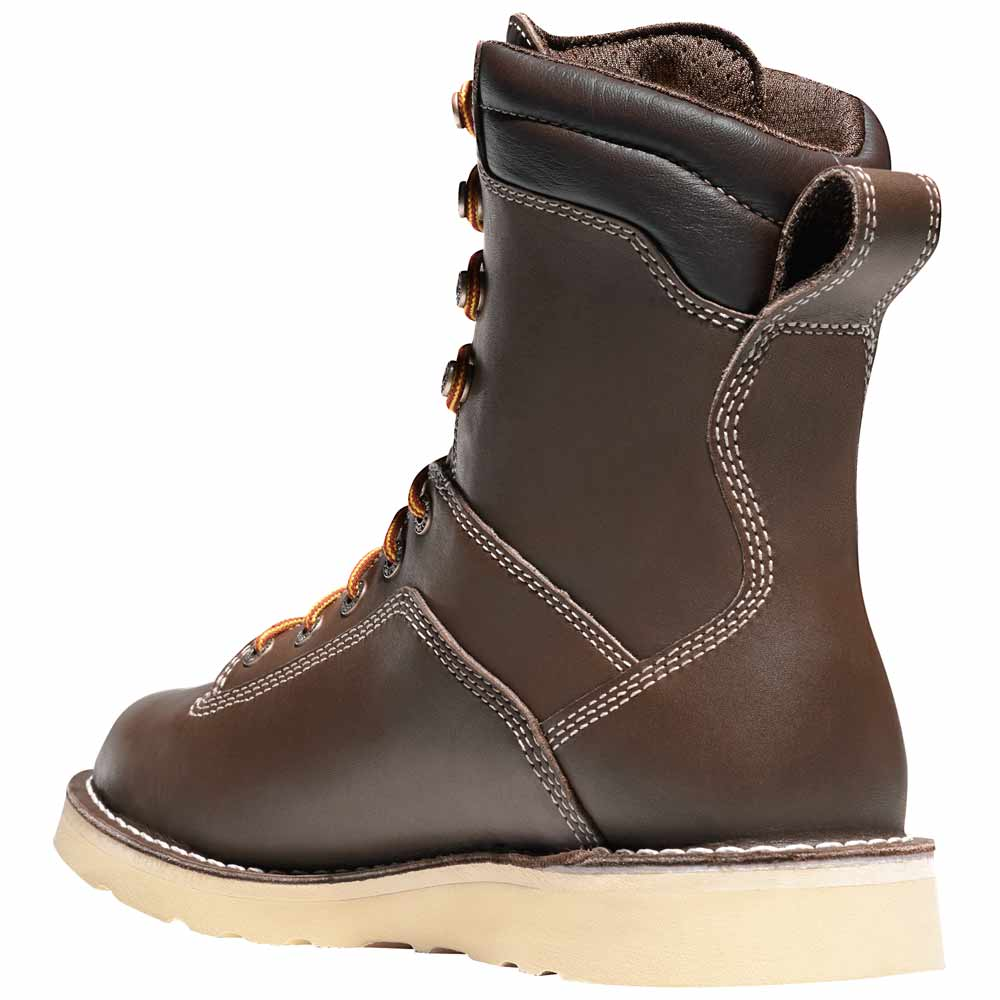 Danner Quarry 8 Inch Brown Safety Toe Wedge Work Boot