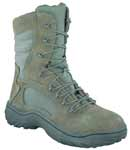 Reebok CM989 Womens Fusion Max 8-inch Sage Zip Steel Toe Military Boots