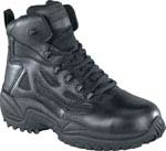 Reebok RB864 Womens Rapid Response Black 6-inch Zip Safety Toe Tactical Boot