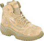 Reebok RB8694 Rapid Response Desert Tan 6-inch Zip Safety Toe Military Boot