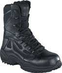 Reebok RB874 Womens Rapid Response Black 8-inch Zip Safety Toe Tactical Boot