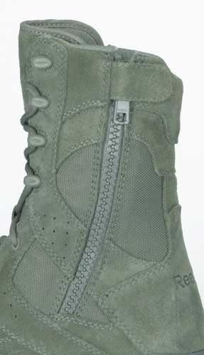 Reebok Dauntless 8-inch Safety Toe Zip Sage Green Uniform Boot - RB8835 ce96d0401725