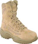 Reebok RB8894 Rapid Response Desert Tan 8-inch Zip Safety Toe Military Boot