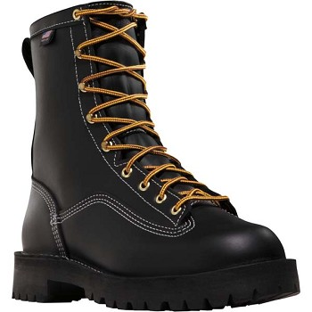 Danner Super Rain Forest 8-inch Black Waterproof Work Boot