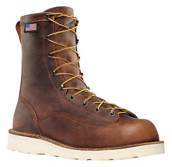 Danner Bull Run 8-inch Brown Plain Toe Work Boot
