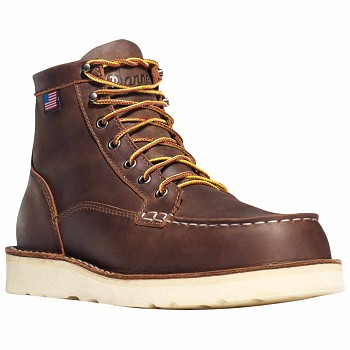 Danner Bull Run Moc Toe 6-inch Brown Wedge Steel Toe Work Boot