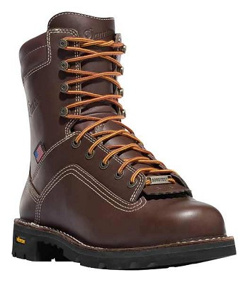 Danner Quarry Brown 8-inch Waterproof Safety Toe Work Boot - Made in the USA