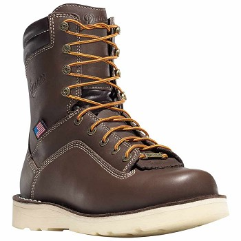 Danner Quarry 8-inch Brown Waterproof Wedge Work Boot