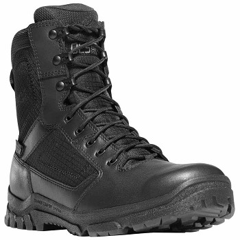 Danner Lookout 8-inch Black Waterproof Uniform Boot