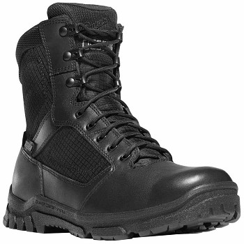 Danner Lookout Side-Zip 8-inch Black Waterproof Uniform Boot