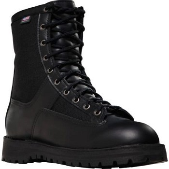 Danner Boots: 21210 Acadia 8 inch Black Uniform Boot