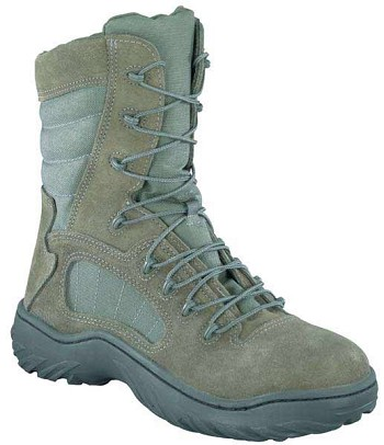 Reebok CM9998 Fusion Max 8-inch Sage Side Zip Steel Toe Military Boots