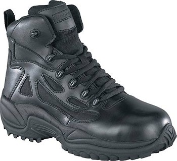 Reebok RB8674 Rapid Response Black 6-inch Zip Safety Toe Tactical Boot