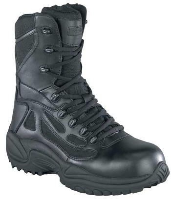 Reebok RB877 Womens Rapid Response 8-inch Black Zip Waterproof Tactical Boot