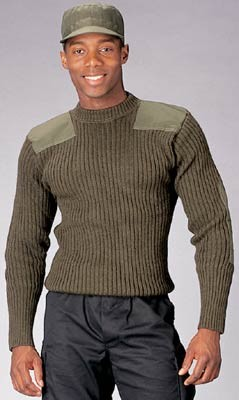 Olive Green Wool Uniform Sweater Free Shipping Od Wool