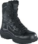 Reebok RB8875 Rapid Response Black 8 inch Side Zip  Tactical Boot